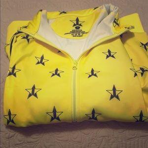 Jeffree Star yellow track jacket.